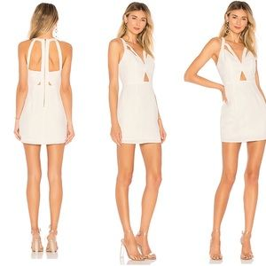 by the way. Mini Homecoming Dress in White